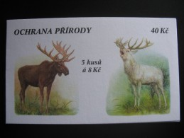1998.  Booklet/postzegelboekje, Fauna, Hert, Deer, Hirsch 18.000 Released (bkgrf196) - Tsjechië