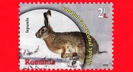 ROMANIA - Usato - 2013 - Lepre Europea - Hare - Caccia - Hunting - 2,10 L - 1948-.... Repubbliche