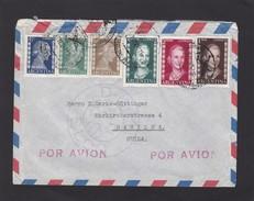 LETTRE POUR LA SUISSE AVEC 6 TIMBRES EVA PERON. - Briefe U. Dokumente