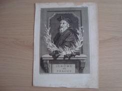 Lithographie JEROME DE PRAGUE - Storia