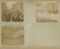 Le 74e Régiment D'Infanterie à Meaux. 1909. 3 Photos. - Guerra, Militari