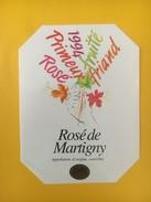 4103 -  Primeur 1994 Rosé De Martigny  Suisse - Etiquettes