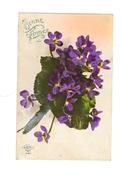Bonne  Année - Bouquet De Violettes - Sapi - 1577 - Nouvel An
