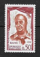 """Variété France : """"Raimu""""  N° 1304a ** """"Fond Vert Pâle"""" TB (cote 25,oo €) - Varieties: 1960-69 Mint/hinged"""