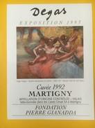 4110 -  Fondation Pierre Gianadda Exposition Degas 1993 Valais Suisse 2 étiquettes - Art
