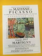 4111 -  Fondation Pierre Gianadda Exposition De Matisse à Picasso 1994 Valais Suisse 2 étiquettes - Art