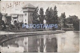 72000 URUGUAY MONTEVIDEO PARQUE RODO YEAR 1928 CIRCULATED TO ARGENTINA POSTAL POSTCARD - Uruguay