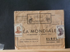67/726  LETTRE  MADAGASCAR   1950  TARIF/FRANCE  43;50 F.          A 1  EURO/PIECE  VERSO 2TIMBRES 15F + 0.50 NON DENTEL - Covers & Documents