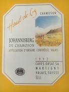 4117 -  Haut De Cry Johannisberg De Chamoson 1993 Valais Suisse - Art