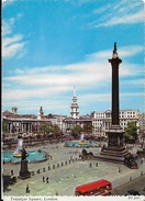INGHILTERRA - LONDRA - TRAFALGAR SQUARE - VIAGGIATA 1970
