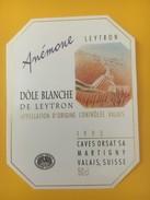 4119 -  Anémone Dôle Béanche De Leytron 1993 Valais Suisse - Art