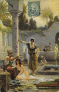 Tunisie, Illustration: Bain Au Harem - Edition R. & J.D. Série T.O. 17 - Tunisie