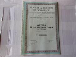 FILATURE & CORDERIE DE NORMANDIE (yport,seine Maritime) - Actions & Titres