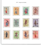 Angola 1957 Indigeni Di Angola . N.12 Valori Usati   Scott.395/406 See Scan - Angola