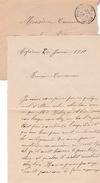 1910 - ASPIERES (12) - L.A.S. Marie CEREDE à Son Avocat à Propos D'un Mur Mitoyen Lorsqu'il était Hier Au Bout Du Jardin - Historical Documents