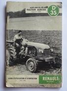 GUIDE D'UTILISATION ET D'ENTRETIEN -TRACTEUR AGRICOLE RENAULT  Type R.7050 - D35 - Tractors