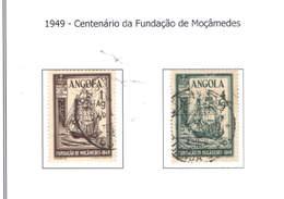 Angola 1949 Cent.Fond.Mocamedes .. N.02 Valori Usati   Scott.325+326 See Scan - Angola