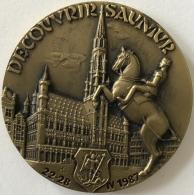 Médaille. Découvrir Saumur. 22-28 1987. Diamètre 50 Mm - Poids 64 Gr. - Touristiques