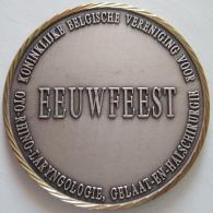 Médaille. ORL-NKO. Eeuwfeest Vereniging. Centenaire. Diam. 70 Mm - 107 Gr. - Profesionales / De Sociedad