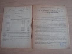 DOCUMENTS SUCRAGES DES VENDANGES PRINCIPALES OBLIGATIONS DES VITICULTEURS 1892 - O
