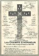 Ref U45- Mortuaires - Mortuaire -guerre 1914-18- Les Victoires De La Marne Et De La Meuse -les Champs D Honneur - - Obituary Notices