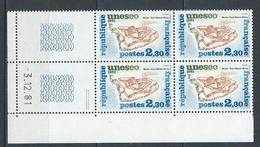 """FR Coins Datés Service YT 70 """" Unesco Sites Classés 2F30 """" Neuf** Du 3.12.81 - Dienstpost"""