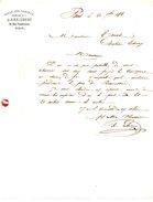 FRANCE. Lettre De 1858. Halle Aux Farines. - Alimentaire