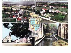 FITILIEU  (38)   Blason, 4 Vues, Stade, Eglise,  Ed. CIM 1960 Environ - Other Municipalities