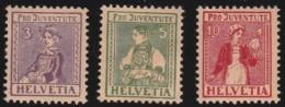Switserland     .     Yvert   .   154/156     .    *      .     Ongebruikt   .    /    .    Mint-hinged