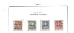 Angola 1902 Re Carlos I° Provv...  .. N.04 Valori Usati   Scott.83/86 See Scan - Angola
