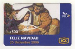 Costa Rica 500 Colones ICE Telecard Merry Christmas, December 25, 2006, Used - Costa Rica