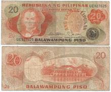 Filipinas - Philippines 20 Piso 1978, Firma 9 Pick 162.b Ref 243 - Filipinas