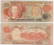 Filipinas - Philippines 20 Piso 1978, Firma 10 Pick 162.c Ref 244 - Filipinas
