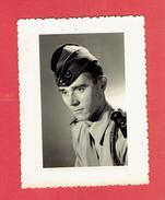 PHOTOGRAPHIE ARGENTIQUE 1954 SOLDAT LUCIEN COCHINAL DE CHARTRES AU 9e REGIMENT ZOUAVE ALGERIE - War, Military