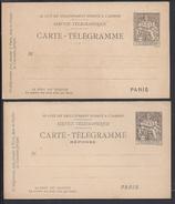 FR - 1897 - Carte Postale Pneumatique Chaplain 30 Cts Avec Réponse Payée  - B/TB -