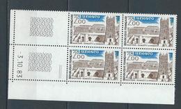 """Coins Datés Service YT 75 """" UNESCO 2F00 """" Neuf** Du 3.10.83 - Servicio"""