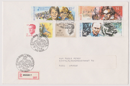 Enveloppe Cover Brief Aangetekend Registered Recommandé Brugge 7 2387 à 2389 - Brieven En Documenten