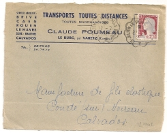 Convoyeur ST JULIEN LE VENDOMOIS BRIVE. Origine LE BURG, Par VARETZ Corrèze Sur DEVANT D'ENVELOPPE. 1962. - Poststempel (Briefe)