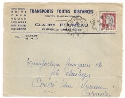 Convoyeur ST JULIEN LE VENDOMOIS BRIVE. Origine LE BURG, Par VARETZ Corrèze Sur DEVANT D'ENVELOPPE. 1962. L2 - Marcofilia (sobres)