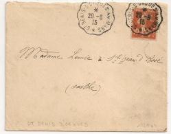 Convoyeur ST DENIS D'ORQUES AU MANS. 1915. - Poststempel (Briefe)