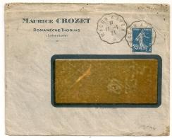 Convoyeur MACON A LYON. 1921. - Poststempel (Briefe)
