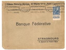 REGLISSE FLORENT,  Jeanne D'ARC. ORLEANS Sur Enveloppe LYON R.P FOIRE INTERNATIONALE.1929 - Storia Postale