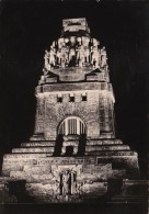 Germany Messestadt Peipzig Voelkerschlachtdenkmal bei Nacht