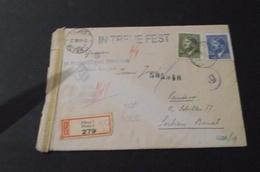 SS Prinz Eugen Pismo 1943 . SS Divison Prinz Eugen  Letter Pilsen/Plzen- Pantschowa(Pancevo Yugoslavia) - Covers & Documents