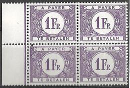 _6R-516: Blok  Van 4 Zegels: N° Tx43: Postfris .. Om Verder Uit Te Zoeken..