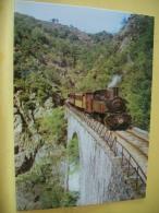 TRAIN 2844 - VUE 5/6 - CHEMIN DE FER DU VIVARAIS - LIGNE TOURNON-LAMASTRE - LE TRAIN ACCROCHE A LA COLLINE - Trains