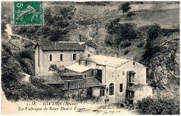 69 GIVORS - La Fabrique De Soies Désiré Faure  (Recto/Verso) - Givors