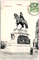 HONGRIE  - BUDAPEST - Andrassy-szobor  (Recto/Verso) - Hungary