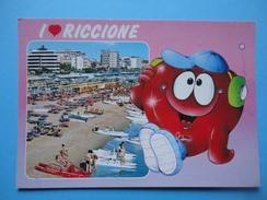 I Love Riccione - Rimini - Cuore - Vedutina - Panorama Spiaggia E Alberghi - Rimini
