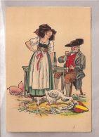CP Barré & Dayez - E. Renaudin - 1184 U. Couples Folkloriques - Alsace - Ilustradores & Fotógrafos